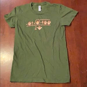 American Apparel olive t-shirt